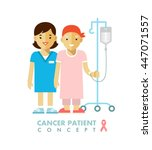 cancer ill people person... | Shutterstock .eps vector #447071557