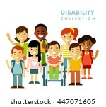 disability children friendship... | Shutterstock .eps vector #447071605