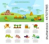 farm infographics set natural...   Shutterstock .eps vector #447075985
