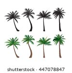 palm tree set nature floral...   Shutterstock .eps vector #447078847
