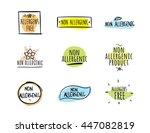 allergens free  non allergenic... | Shutterstock .eps vector #447082819