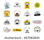 natural organic cotton  pure... | Shutterstock .eps vector #447082834