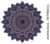 vector round mandala in... | Shutterstock .eps vector #447086011