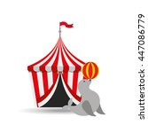 circus animal isolated icon... | Shutterstock .eps vector #447086779