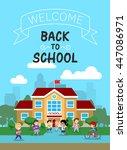 vector illustration of school... | Shutterstock .eps vector #447086971