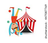 circus juggler isolated icon... | Shutterstock .eps vector #447087769