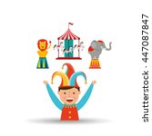 circus juggler isolated icon... | Shutterstock .eps vector #447087847