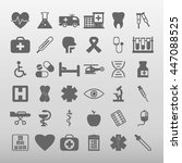 medical icons set vector... | Shutterstock .eps vector #447088525