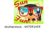 card. sun and fun. yorkshire...