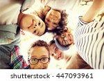 children friendship...   Shutterstock . vector #447093961