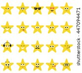stars with smiley faces   Shutterstock .eps vector #447094471