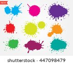 colorful paint splatters.set of ... | Shutterstock .eps vector #447098479