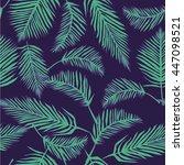 palm leaves   vector... | Shutterstock .eps vector #447098521