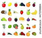 fruits set on white. fruits... | Shutterstock .eps vector #447098884