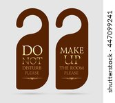 vector do not disturb and make... | Shutterstock .eps vector #447099241