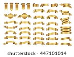 golden ribbon banners.set of... | Shutterstock .eps vector #447101014