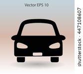 flat car icon. vector. | Shutterstock .eps vector #447108607