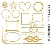 set of nautical marine rope... | Shutterstock .eps vector #447113791