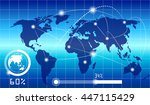 technology network connection... | Shutterstock .eps vector #447115429