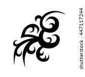tattoo art tribal vector... | Shutterstock .eps vector #447117244