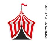 circus tent isolated icon... | Shutterstock .eps vector #447118804