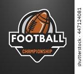 american football sports logo ... | Shutterstock . vector #447124081