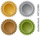 star seals isolated on a white... | Shutterstock . vector #44712484