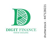 digits finance  abstract vector ... | Shutterstock .eps vector #447128221