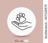 line icon  dog adoption   Shutterstock .eps vector #447130975