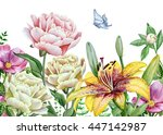 Watercolor Floral Image With...