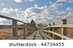 wooden bridge and rails.  a...