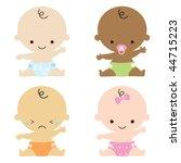 vector illustration of babies. | Shutterstock .eps vector #44715223