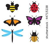 vector illustration of insects... | Shutterstock .eps vector #44715238