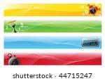 vector illustration of 4 banner ... | Shutterstock .eps vector #44715247