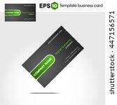 abstract green business card... | Shutterstock .eps vector #447156571