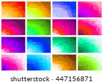 set polygon abstract background ... | Shutterstock .eps vector #447156871