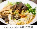 khanom chin nam ngeaw  rice...   Shutterstock . vector #447159157