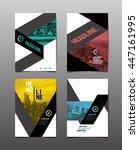 flyer design template ... | Shutterstock .eps vector #447161995