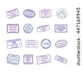 vector international travel... | Shutterstock .eps vector #447169945