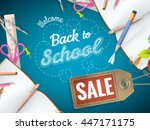 back to school sale background. ... | Shutterstock .eps vector #447171175