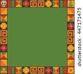 mexican themed frame decoration ... | Shutterstock .eps vector #447171475