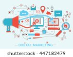 online digital marketing and... | Shutterstock .eps vector #447182479