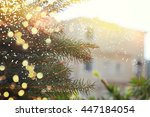 closeup of christmas tree | Shutterstock . vector #447184054