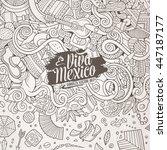 cartoon cute doodles hand drawn ... | Shutterstock .eps vector #447187177