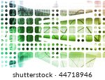 digital multimedia with a media ... | Shutterstock . vector #44718946