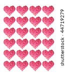 many hearts made of flowers   Shutterstock . vector #44719279
