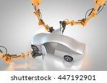 3d rendering  vehicle... | Shutterstock . vector #447192901