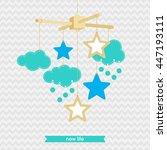 baby shower invitation ... | Shutterstock .eps vector #447193111