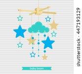 baby shower invitation ... | Shutterstock .eps vector #447193129