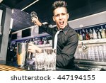 flair bartender at work in a... | Shutterstock . vector #447194155